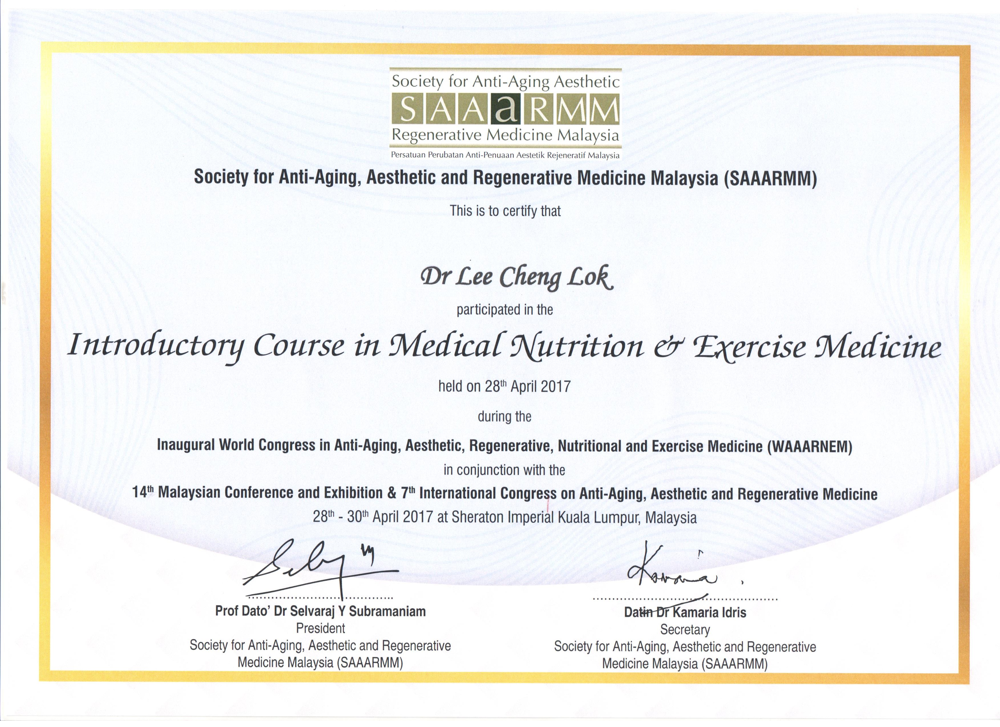 Certifications Heal Within Group Sdn Bhd