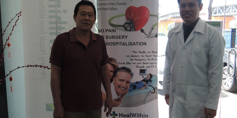 Lau Kim Leng…REDUCED the types of medication he takes from five to only three in under two months!